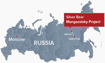 Map of the Mangazeisky Project, Russia