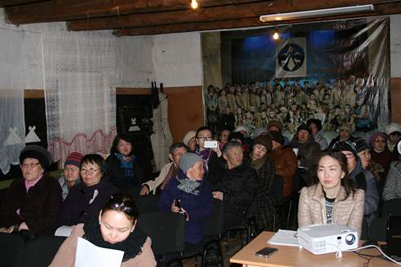 April 2016, Sebyan-Kuel citizens taking part in Public Hearing devoted to the Mining Complex construction.