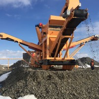 Q3 2016 Crusher processing waste ore used on roads and foundations